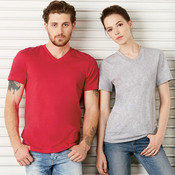 Unisex V-Neck Cotton Jersey Tee