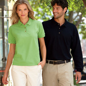 Adult Ultra CottonTM Long-Sleeve Pique Polo