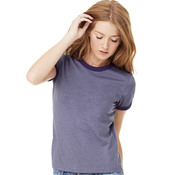 Ladies' Heather Ringer Short-Sleeve 50/50 Jersey Tee