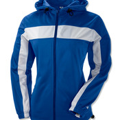 Ladies' Brushed Tricot Hooded Jacket with Body and Sleeve Panels