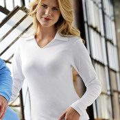 Ladies' Egyptian Interlock Cotton Long-Sleeve Polo
