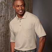 Adult Classic Pique Cotton Polo with Pocket