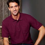 Adult Whisper Pique Blend Polo with Pocket