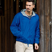 Adult Nylon Fleece-Lined Hooded Jacket