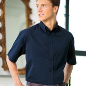 Adult Whisper Twill Blend Short-Sleeve Woven Shirt