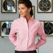 Ladies' Classic Wrinkle-Free Blend Long-Sleeve Oxford Woven Shirt