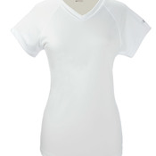 Ladies' Double Dry® Interlock V-Neck Polyester T-Shirt