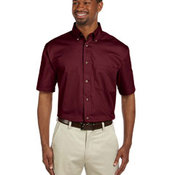 Men's Easy Blend™ Short-Sleeve Twill Shirt with Stain-Release