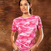 Ladies' Fine Jersey Camouflage Cotton T-Shirt