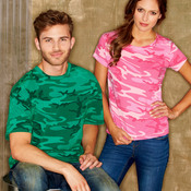 Adult Overdye Camouflage Cotton T-Shirt