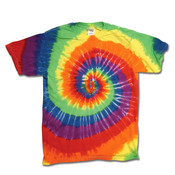 Gildan Tie-Dye Adult Cotton Rainbow Swirl Tee