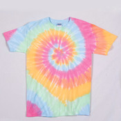 Gildan Tie-Dye Youth Cotton Rainbow Swirl Tee