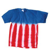 Gildan Tie-Dye Adult Patriotic Flag Cotton Tee