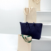 Cotton Canvas Jumbo Tote with Gusset