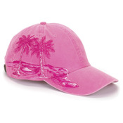 Cotton Pigment-Dyed Resort Palm Trees Cap