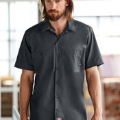 Men's Short-Sleeve Industrial Poplin Work Shirt