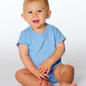 Rabbit Skins Infant Short-Sleeve Cotton Creeper