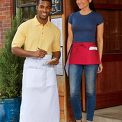 Three-Pocket Blend Waist Apron
