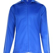 Ladies 100% Polyester Razor Full Zipper Jacket