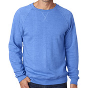 J.America Adult Tri-Blend Fleece Crew