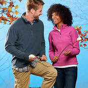 Ladies' Microfleece Quarter-Zip Pullover