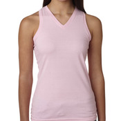 LA T Junior V-Neck Racer Back Tank